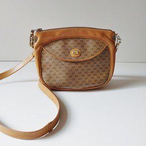 GUCCI vintage supreme print leather crossbody bag